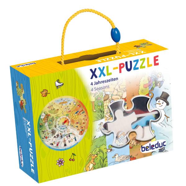 Verpackung des XXL Lernpuzzles 4 Jahreszeiten für Kindergartenkinder von beleduc