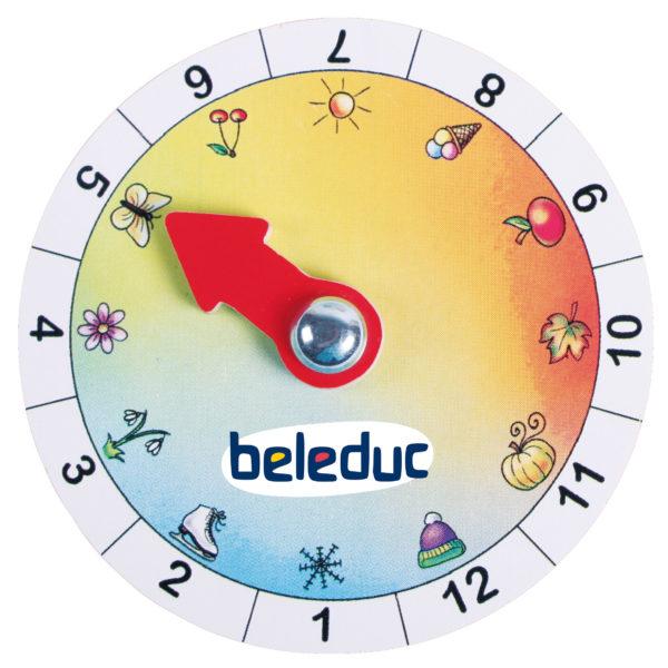 Diese herausnehmbare Jahreszeitenuhr ist Bestandteil des XXL Lernpuzzles 4 Jahreszeiten von beleduc.