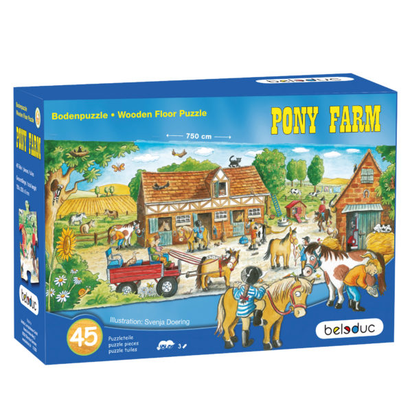 Verpackung des Bodenpuzzles Pony Farm von beleduc