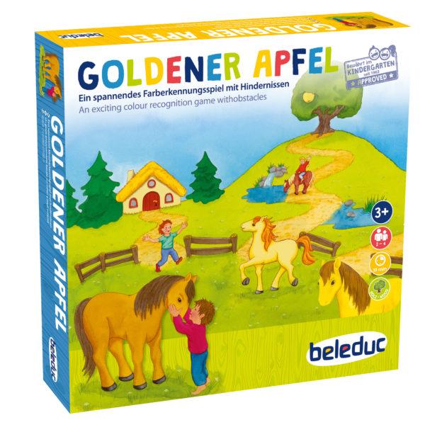 Verpackung des Farbspiels Goldener Apfel für Kindergartenkinder ab 3 Jahren