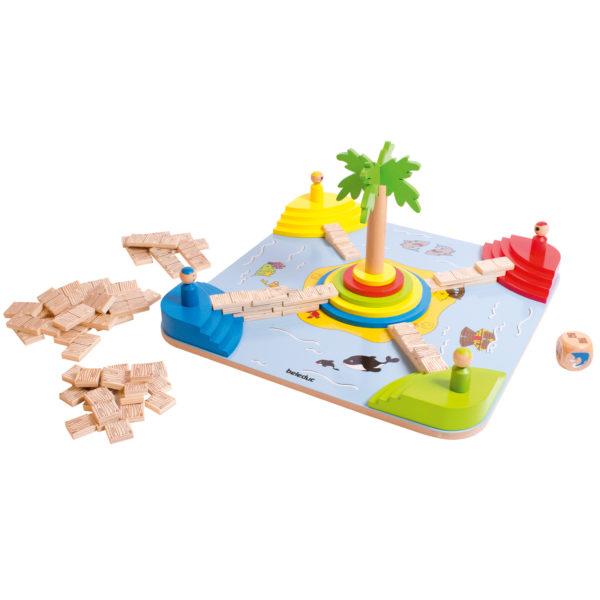"""Inhalt des Piraten-Brettspiels """"Tropicano"""" für Kinder ab vier Jahre."""