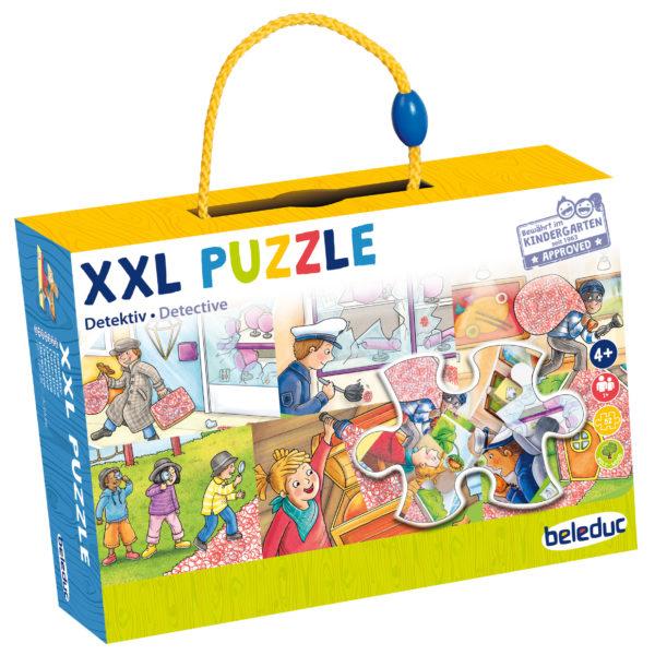 Verpackung des XXL Lernpuzzles Detektiv von beleduc