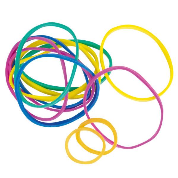 Gummibänder in unterschiedlichen Farben zum Flexipainter von beleduc. Auch extra als Ersatzteil-Set erhältlich