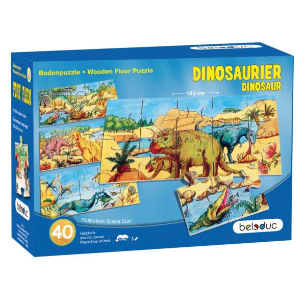 Verpackung des Bodenpuzzles Dino von beleduc