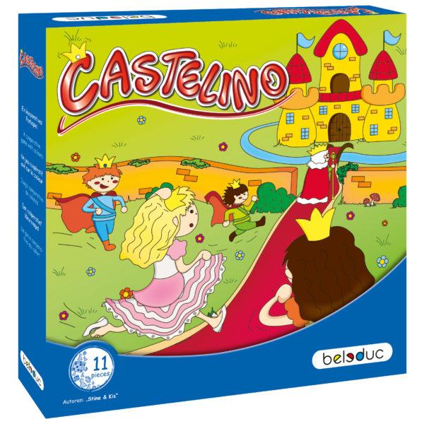 Verpackung des Spiels Castelino von beleduc