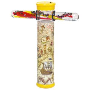 LED Kaleidoskop mit Zauberstab im Piraten-Look von Goki für Kinder im Kindergartenalter.
