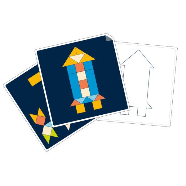 Auswahl an Vorlagenkarten mit unterschiedlichen Schwierigkeitsgraden