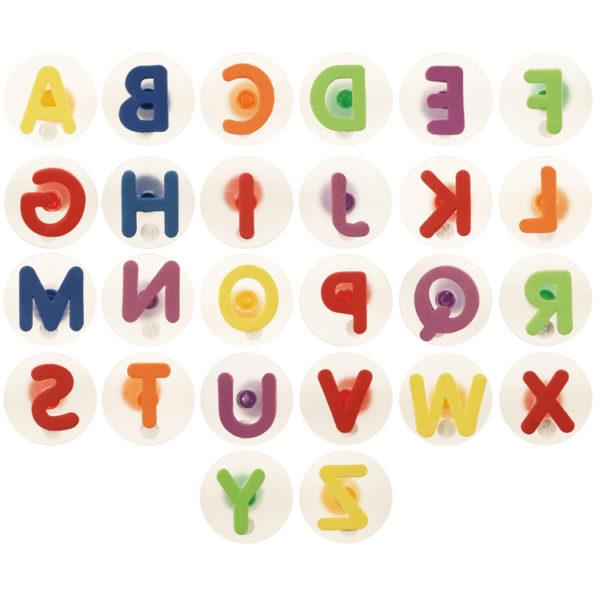 26-teiliges Stempelset mit allen Buchstaben des Alphabets für Kinder ab dem Kindergartenalter