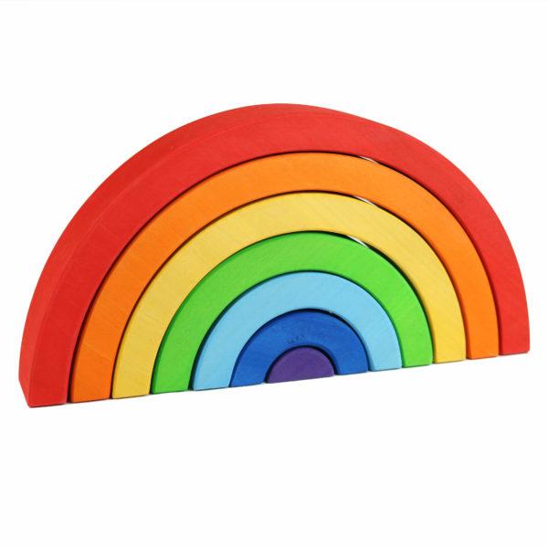 Regenbogen aus Holz zum Spielen und als Dekoration