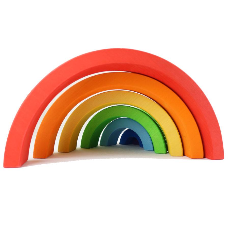 Regenbogen aus Holz zum Spielen für Kinder und als Dekoration