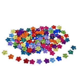 funkelnde Steine in Blumenform zum Legen, Sortieren und Spielen für Kinder ab dem Kindergartenalter