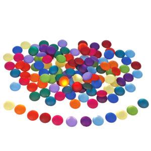 matte Funkelsteine in 12 unterschiedlichen Farben zum Legen, Sortieren und Spielen für Kinder ab dem Kindergartenalter