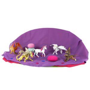 """Tierfiguren-Set """"Mythische Tiere"""" bestehend aus 5 unterschiedlichen Fabelwesen - vom Einhorn bis zum Drachen"""