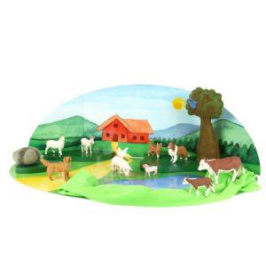 """Tierfiguren-Set """"Bauernhof"""" bestehend aus 10 unterschiedlichen Tieren - vom Schaf bis zur Kuh"""