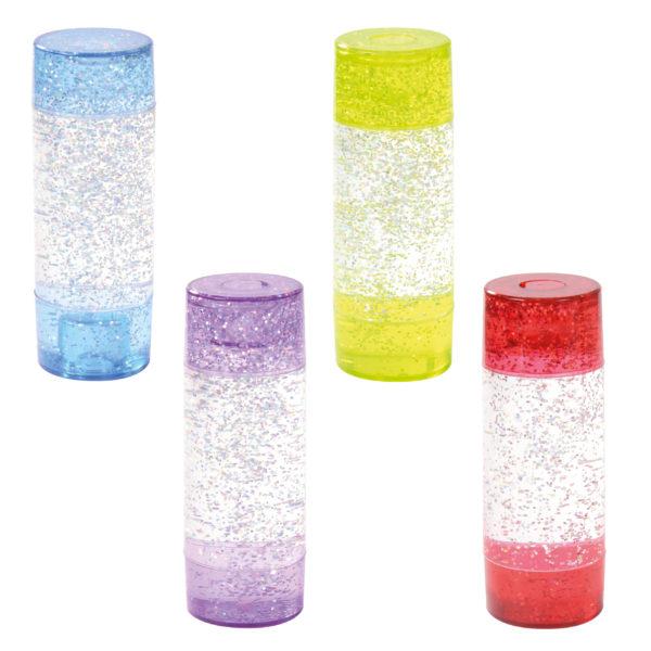 Glitterröhre von eduplay für Kinder ab dem Kindergartenalter erhältlich in vier Farben