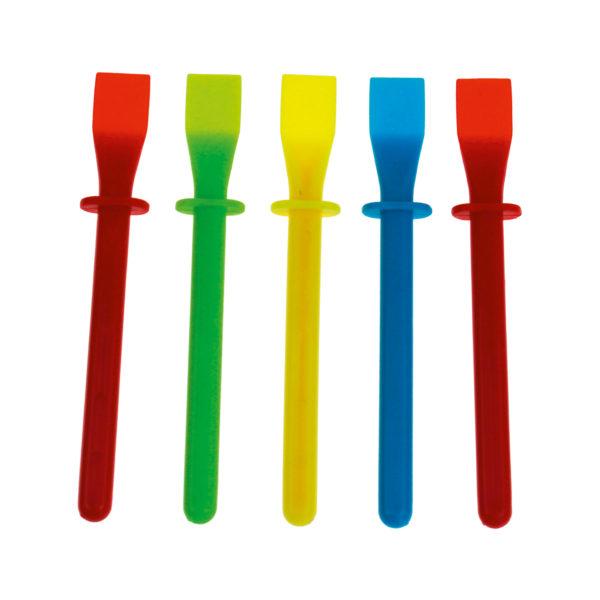 5 Schaber in unterschiedlichen Farben für die Farbschleuder 2.0