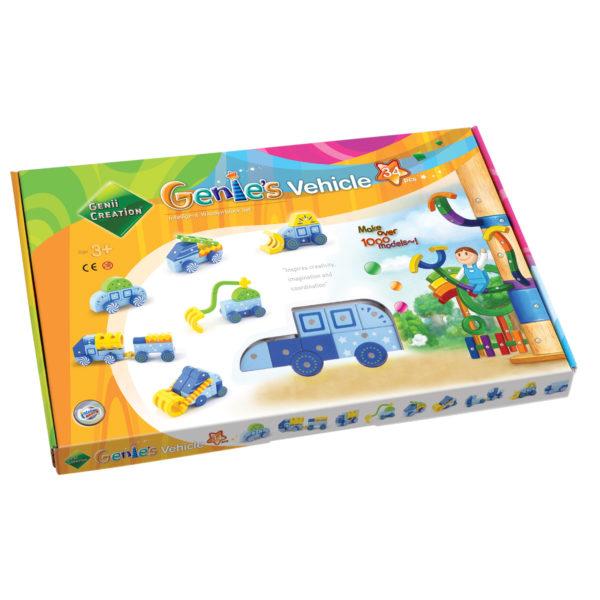 Packung Genii Magnetbausteine-Set für Fahrzeuge