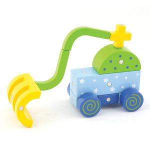 kreatives Fahrzeug gebaut mit Genii Magnetbausteinen für Kinder