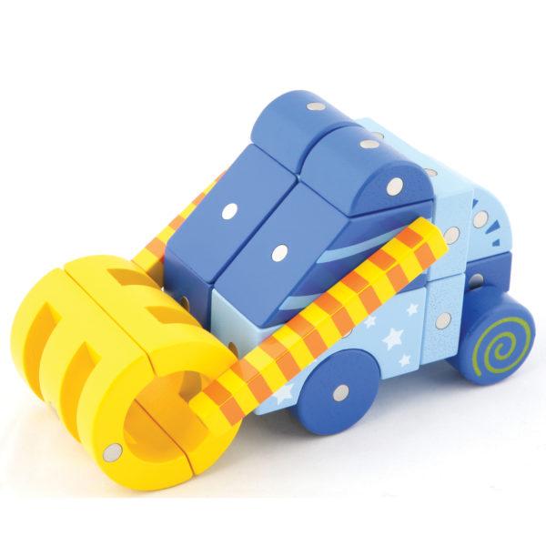 Fahrzeug gebaut aus Genii Magnetbausteinen für Kindergartenkinder