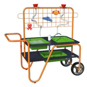 mobiler Sand-Wasser-Tisch von beleduc für Kinder ab dem Kindergartenalter