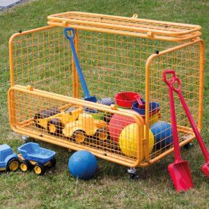 Transportwagen in orange von beleduc für Spiel-, Sand- und Sportmaterialien