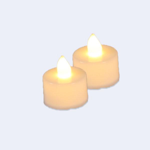 2 LED Teelichter sorgen für warmes Licht ohne Brandgefahr