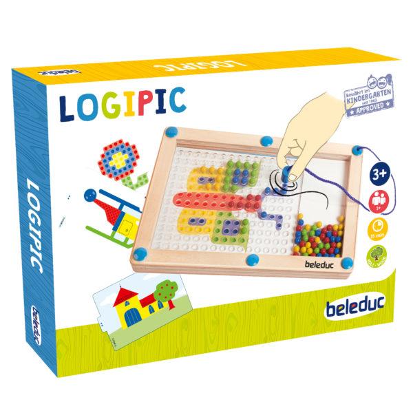 Verpackung des Magnetspiels Logipic für Kinder ab dem Kindergartenalter