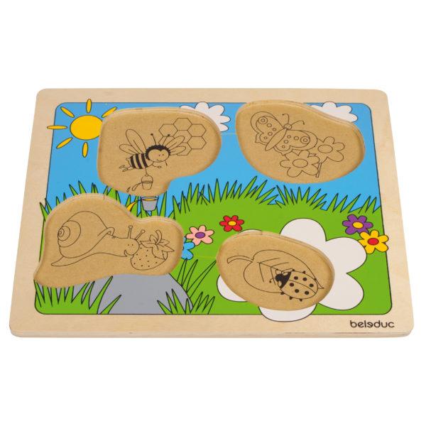 Puzzle aus Holz für Kinder in Kindergarten- und Schulalter