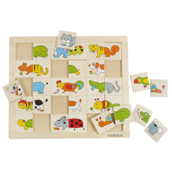Puzzle aus Holz für Kinder im Kindergarten- und Schulalter