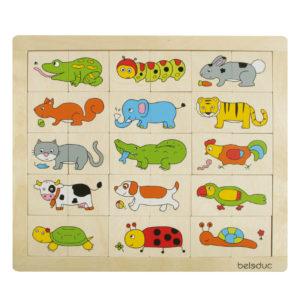 Puzzle aus Holz für Kinder in Kindergarten und Schule