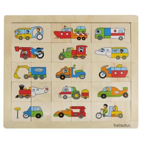 Puzzle aus Holz für Kinder im Kindergarten- und Schulkindalter