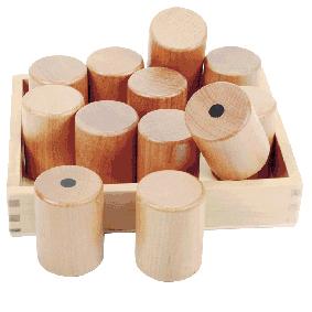 Gewichte -Memo aus Holz für Kinder in Kindergarten- uns Schulalter