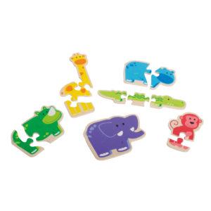 Puzzle aus Holz für Kleinkinder und Kindergarten