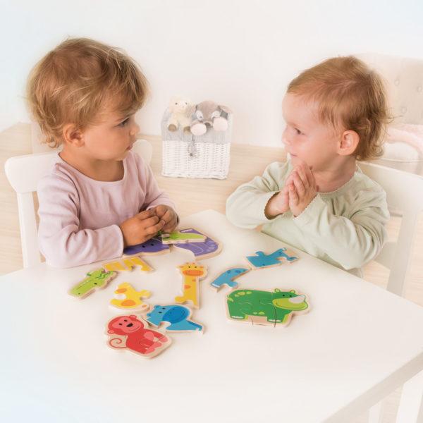 Puzzle aus Holz für Kleinkinde rund Kindergartenkinder