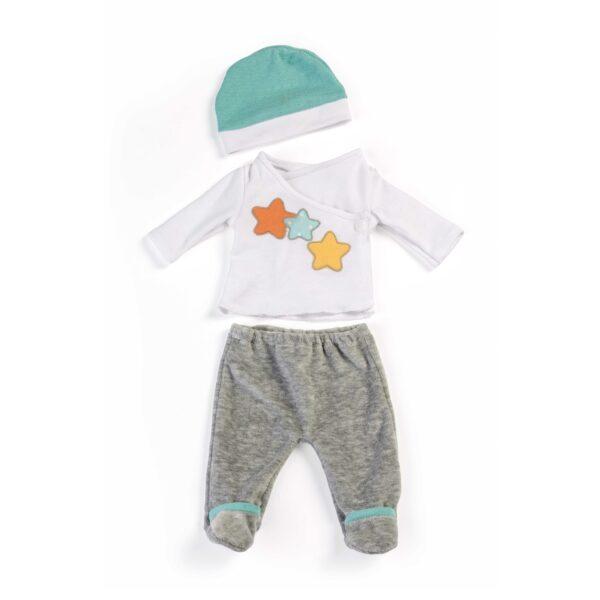 Kleidung für Babypuppe soft graue Hose