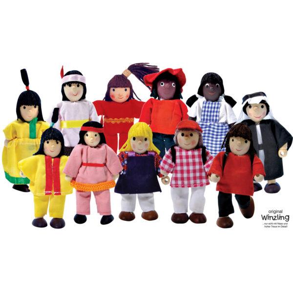 Kleine Puppen für Rollenspiel