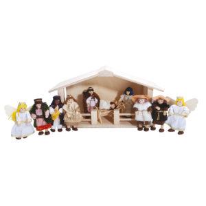 Winzlinge Krippenfiguren Set groß mit Stall