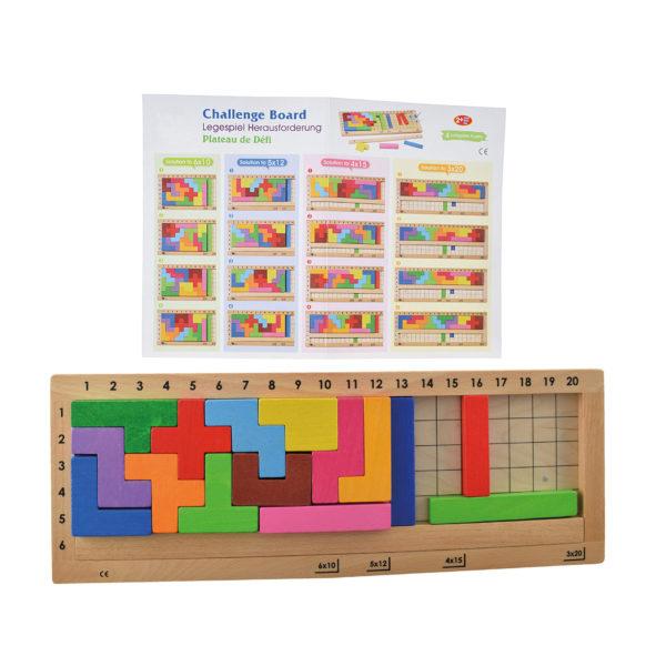 Tetris Board aus Holz für Kinder