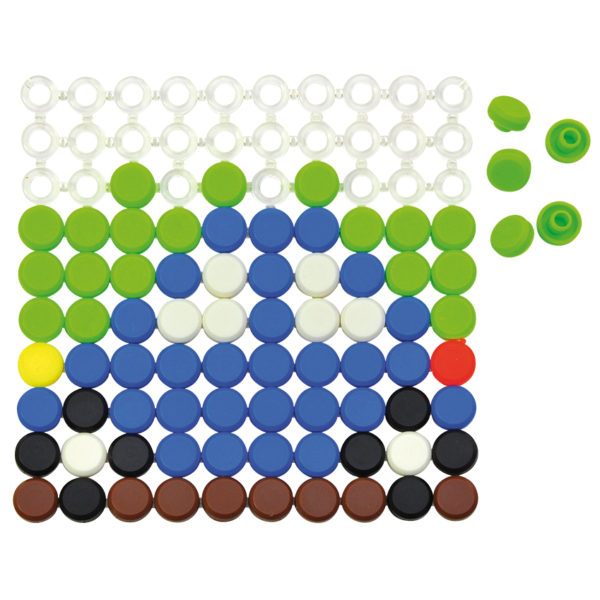 Knopfplattenspiel für Kinder in Kindergarten- und Schulalter
