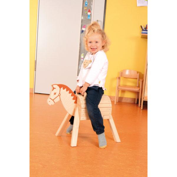 Holzpferd mit Griff für Kinder