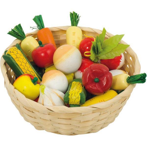 Gemüse aus Holz für Kinder in Kindergarten- und Schulalter
