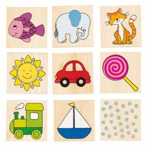 Memospiel aus Holz für Kleinkinder und Kindergartenkinder