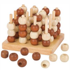 4 in einer Reihe 3D Spiel aus Holz für Kindergarten- und Schulkinder