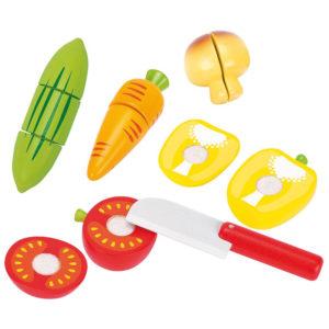 Gemüse aus Holz mit Klett für Kinder in Kindergarten- und Schulalter