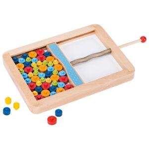 Geschicklichkeitsspiel für Kinder im Kindergarten- und Volkschulalter aus Holz