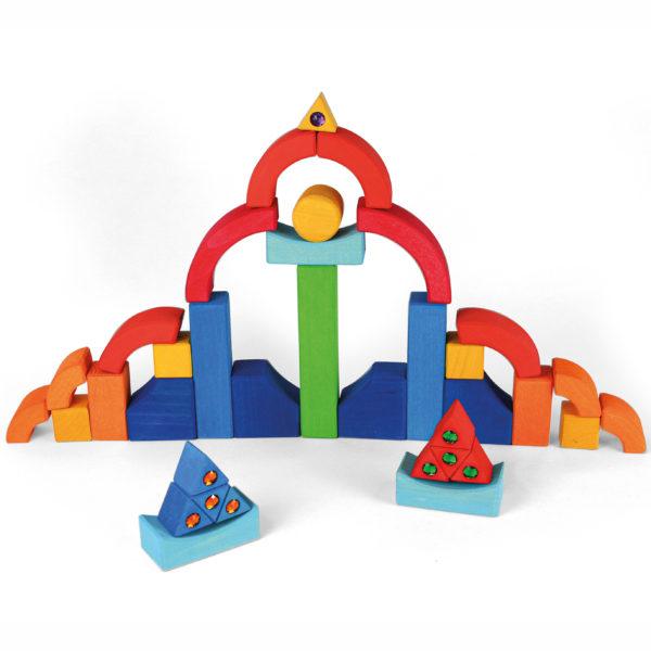 Bausteine aus Holz für Kinder in Kindergarten-und Schulalter