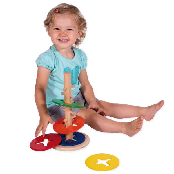 Geschicklichkeitsspiel aus Holz für Kindergartenkinder