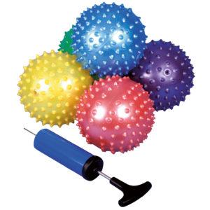 Massagebälle in Metallicfarben für das freie Spiel oder sensomotorische Förderung