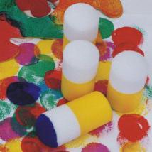 Malzwerge mit Schaumstoffspitze zum Malen für jüngsten Kinder