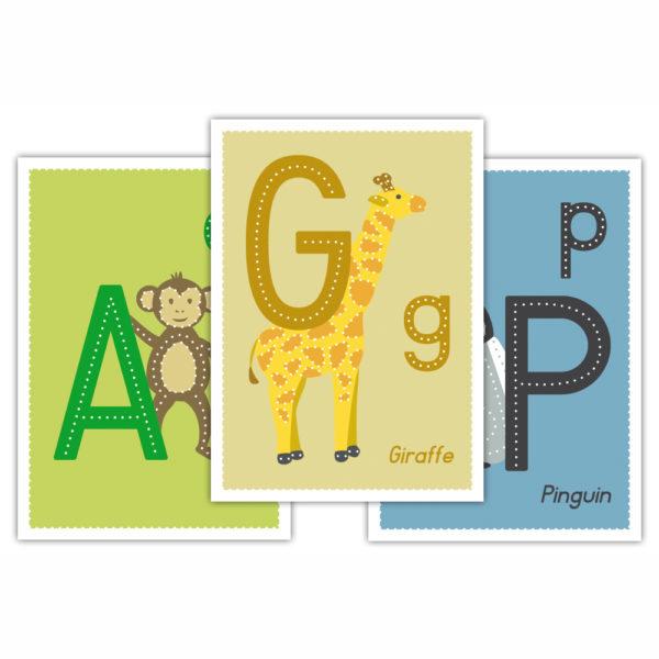 Prickel ABC Set für Kinder in Kindergarten- und Schulalter
